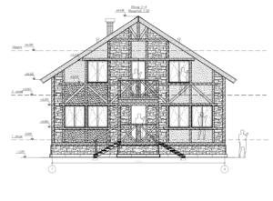 1×001-Дом 2 этажный Площадь 150 Размер 6×12 Деревянный Каркасный